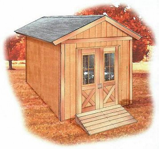 8'x12' Shed plans free