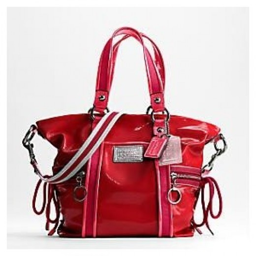 Coach Ruby Red Patent Leather Tote