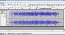 This is Audacity, a free recording software.