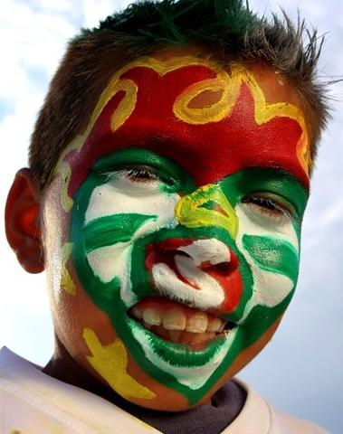 An avid fan of Mexican Football Team. Say Cheese. Photo from Getty Images, FIFA.com