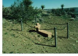 Nina Mora marker, Mojave Desert, California. This baby died during a flashflood in the 1800's.