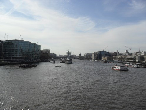 From the middle of Tower Bridge