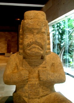 Statue, Olmec - Jaguar baby; Museum of Anthropology at Xalapa, Vera Cruz, Mexico.