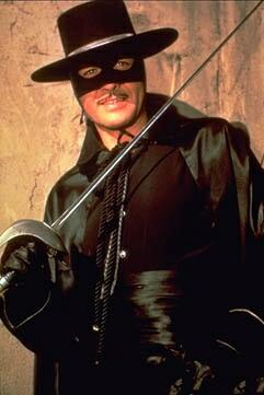 Guy Williams as El Zorro - photo from hollywwodcultmovies.com