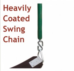 Shop for a well coated swing chain. It has many benefits.