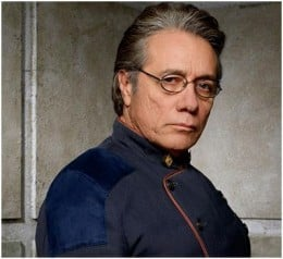 ...as Commander Adama in Battlestar Galactica - photo from electivedecisions.wordpress.com