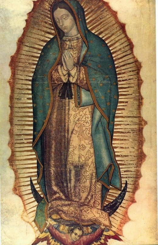 Original cloak of the Virgen de la Guadalupe