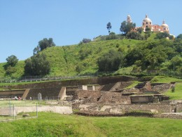 "Great Pyramid of Cholula, also known as Tlachihualtepetl (Nahuatl for "" artificial mountain"")/Photo by: kez48/Source: Webshots"