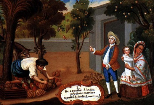 Representation of a mestizo child probably from the late 18th century/Unknown author Image from: http://www.emory.edu/COLLEGE/CULPEPER/BAKEWELL/period.html