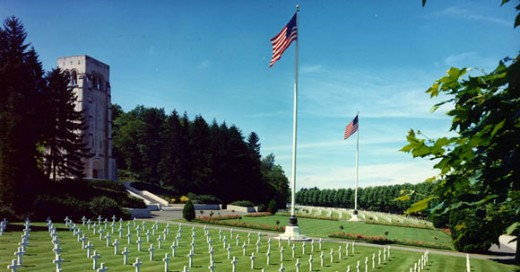 The American Cemetery at Ardennes,  Belgium.