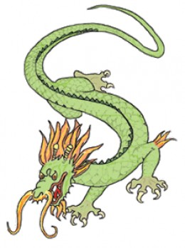 Here's a cute little dragon tattoo for your forearm