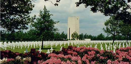 Normandy, France. A total of 9,387 men buried here.
