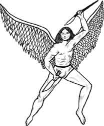 An angel tattoo for the ladies!