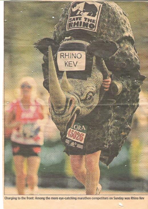 Mind you don't bump into a rhino!