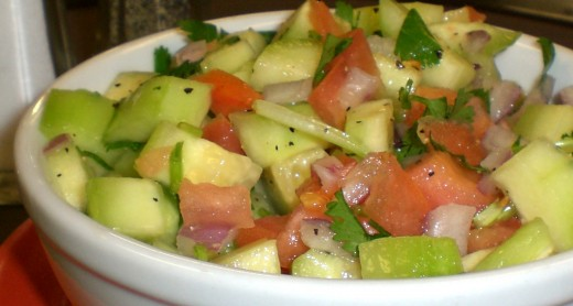 Cucumber Salad - photo from curryleafpdx.com