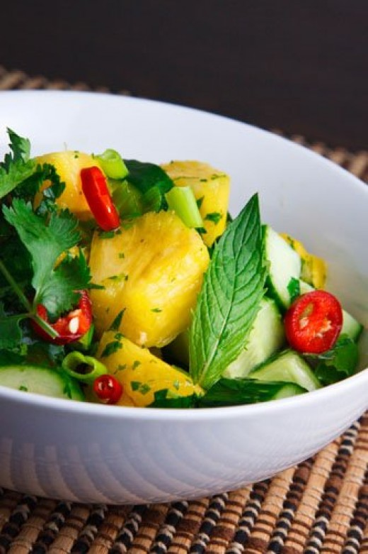 Thai cucumber and pineapple salad - photo from 3.bp.blogspot.com