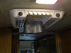 The attached RV AC ceiling assembly ready for the filter cover