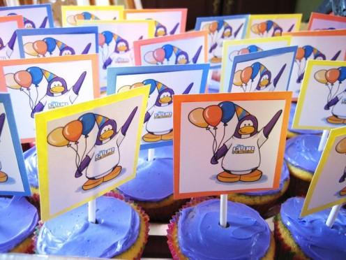 Club Penguin Birthday Cupcakes