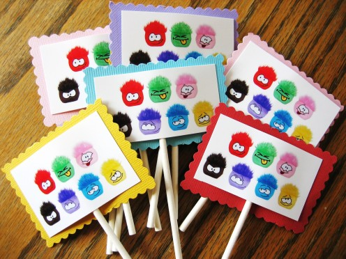 Puffle Cupcake Topppers