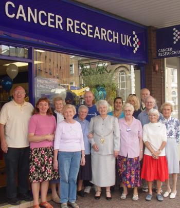 Cancer Research UK with one of their many Charity Fundraising shops