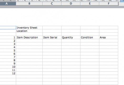 Sample Inventory Sheet Form Related Keywords & Suggestions ...
