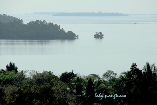 "A view of Puerto Princesa from ""my"" view deck"