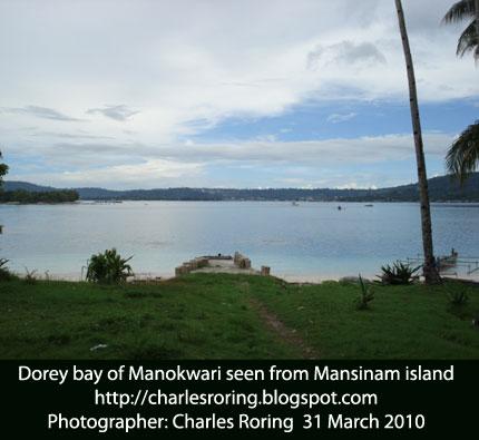 Dorey bay of Manokwari in West Papua