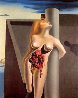The Bleeding Roses 1930 ~ Salvador Dali