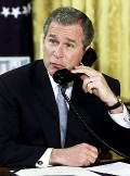 bush talking