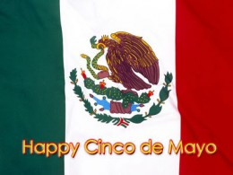 Cinco De Mayo (5th of May) embedded in the Mexican flag