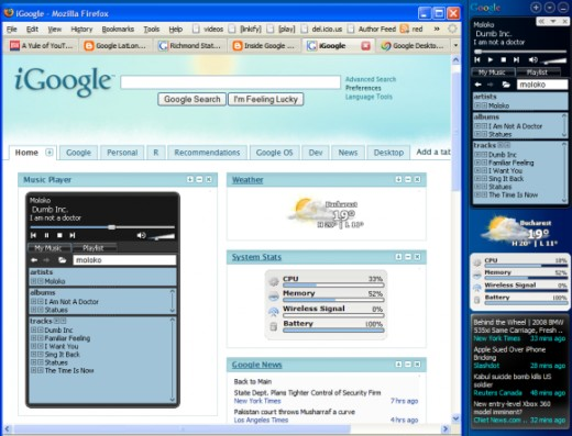 Google desktop widgets