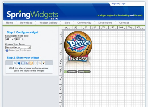 Best site to download free widgets after yahoo widgets is Spring widgets