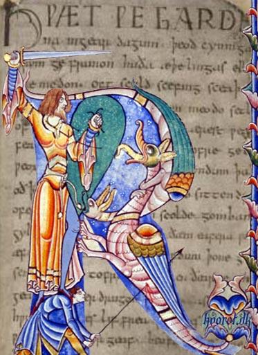 Beowulf. Image credit: le.ac.uk/engassoc/images/