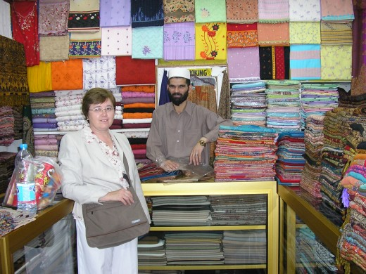A shop in Murree that sells only shawls