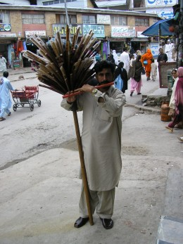 This man was outside the bus station in Murree