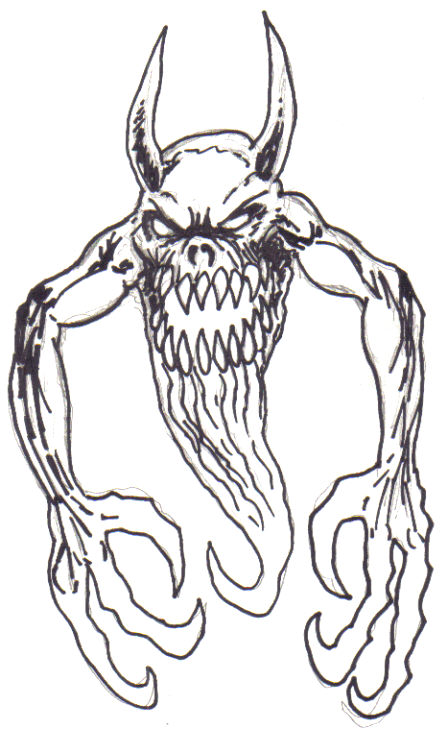How to draw a creepy monster.    Monster Artwork Copyright Wayne Tully 2010
