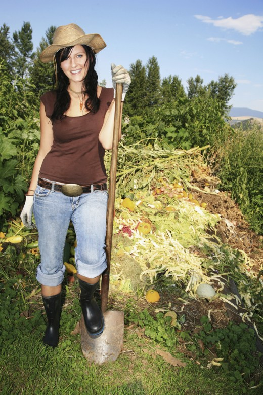 Don't throw out non-composted materials!
