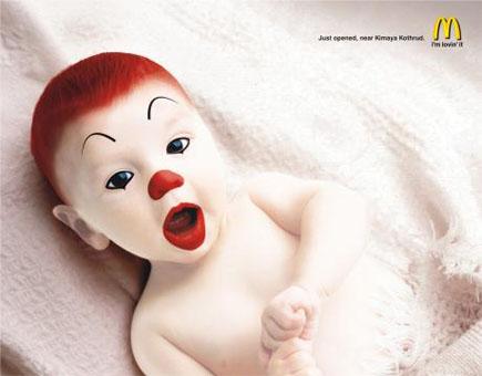 A terrifying clown image
