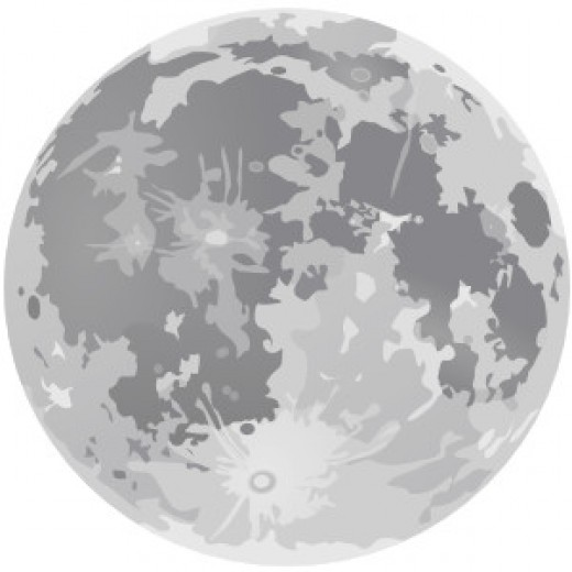 The moon as we see it when it is full. There are legends and truths about lunar full moon influence.