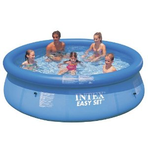 Inflatable swimming pool for the family