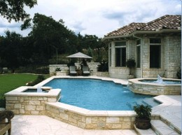 An Elaborate Elevated Pool
