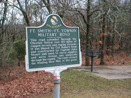 The Talimena Scenic Drive: Sign Indicating the Historic Ft. Smith-Ft. Towson Military Road