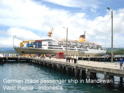 in Manokwari Harbor