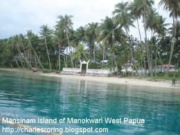 in the Dorey bay of Manokwari