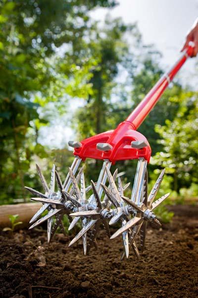 Garden Weasel Rotary Cultivator Weeder tool for easy garden weeding