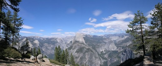 Half Dome Rock Panorama