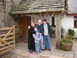 Outside a farmhouse in Wales.