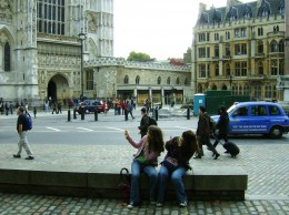 My two daughters on a trip to London.
