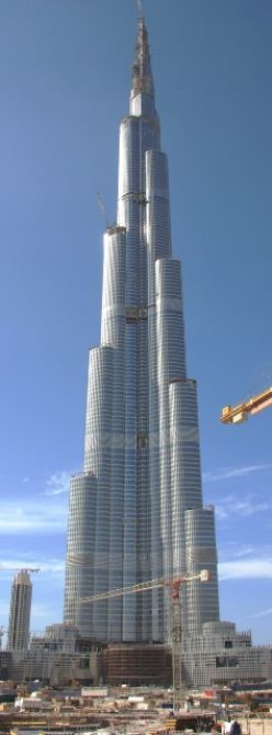 Recently constructed, world's tallest building in Dubai