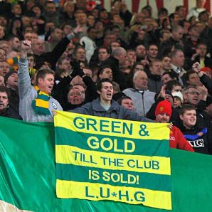 Green and gold till our club is sold